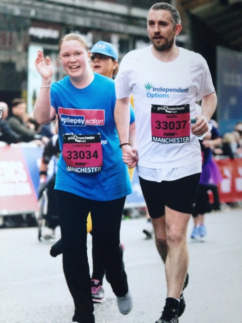 Mark and Christine Appleyard Complete the Great Manchester Run web