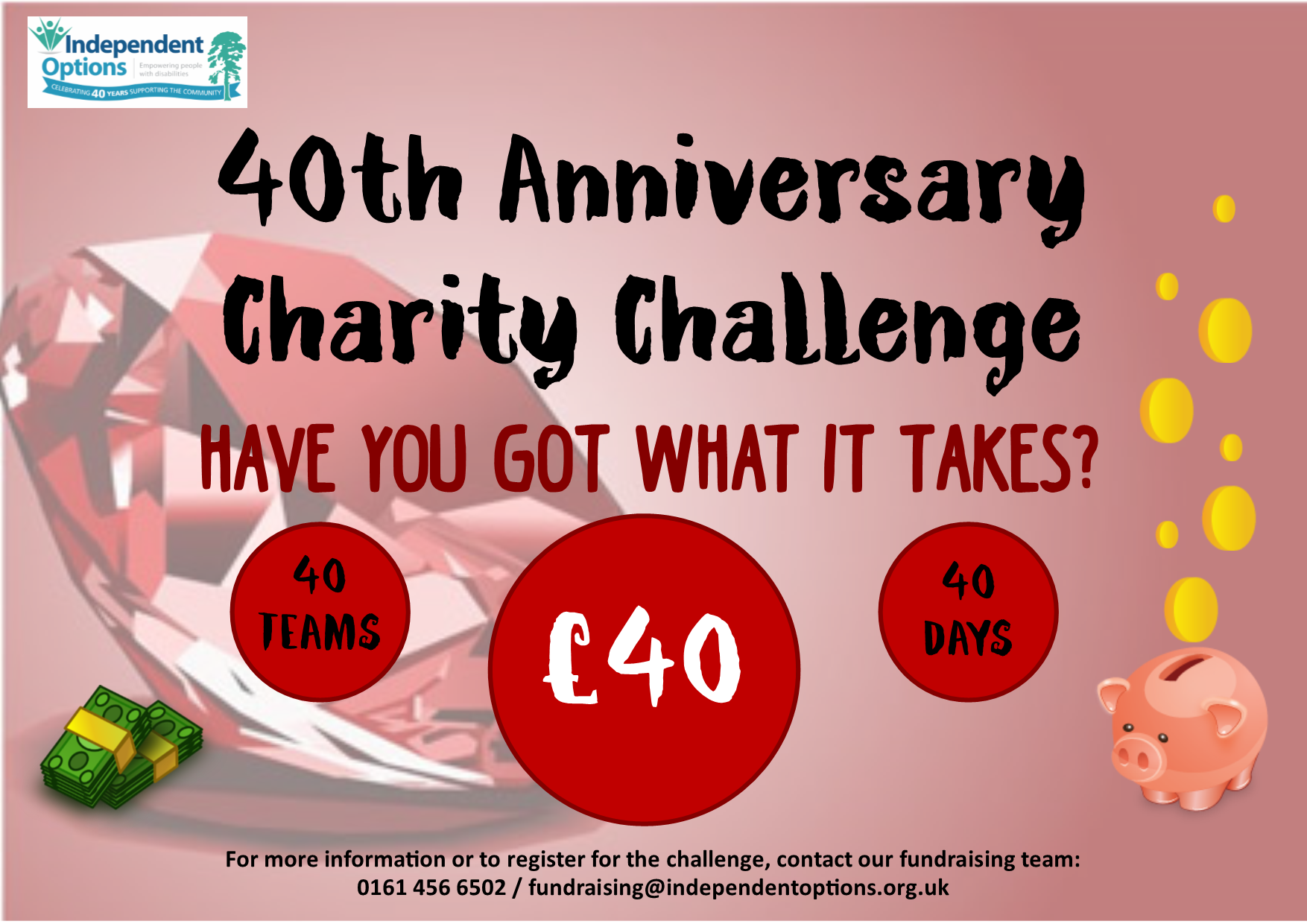 Charity challenge promotional event poster