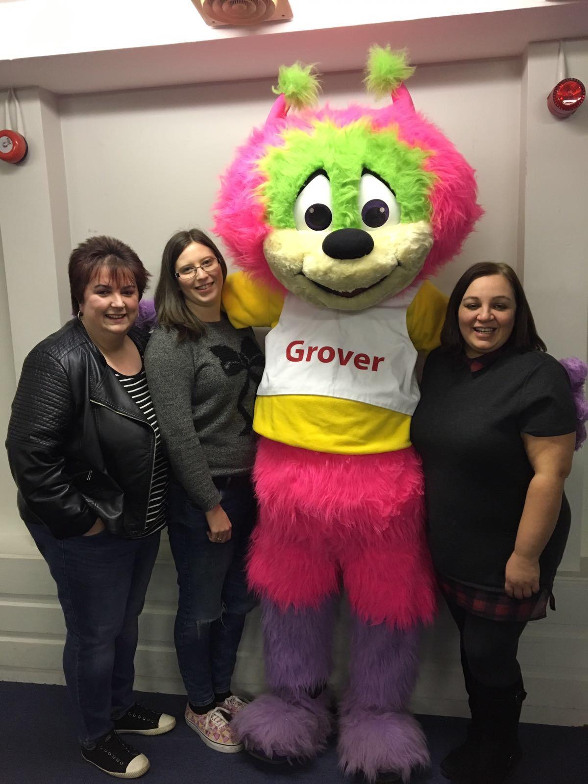 Carnival committee members and mascot
