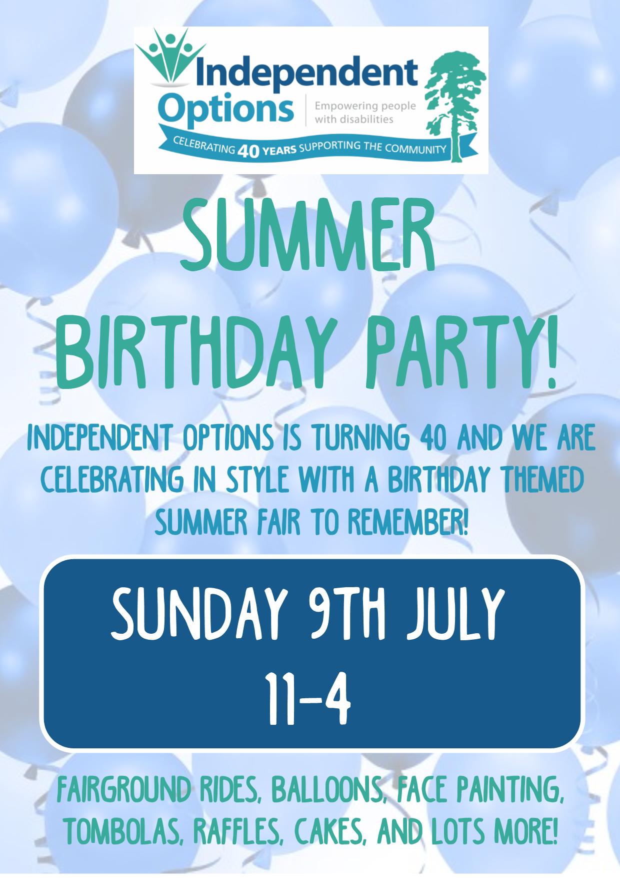 summer birthday fair balloon poster